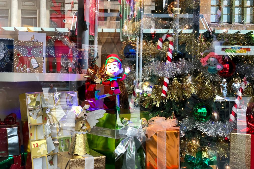 Myers Christmas Window Display