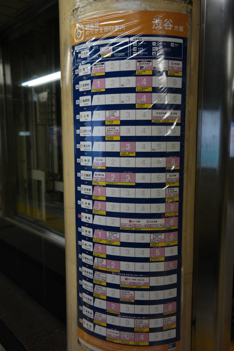 Tokyo Train Station Time Schedule